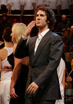 I can totally see Andre blowing kissing to his fans I love this reference pic of Josh Groban