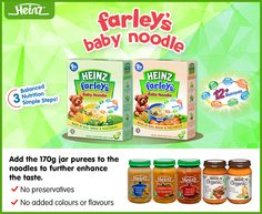 #DidYouKnow Heinz Baby Noodles taste great with our jarred meat purees. :)