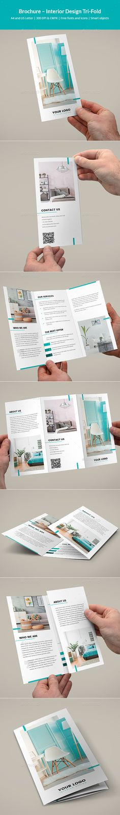 Brochure – Interior #Design Tri-Fold - Corporate #Brochures Download here: https://graphicriver.net/item/brochure-interior-design-trifold/19513276?ref=alena994