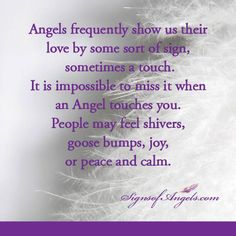 Have you felt signs from your Angels?