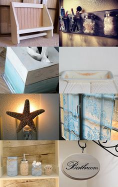 Decor for the Bathroom by Jennifer G. and Tyanna P. on Etsy--Pinned with TreasuryPin.com