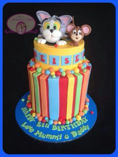Tom Jerry Cake Cake decorating Pinterest Toms Love this