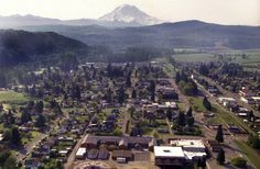 Orting schools, as well as the Pierce County town itself, are in the potential path of Mount Rainier mudflows. (Mike Siegel/The Seattle Times)