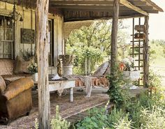 rustic porch...Love this!!
