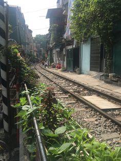 Quiet times on train street in Hanoi. Hanoi, Railroad Tracks, Train, Times, Street, Roads, Walkway, Trains