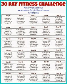 30 Day Fitness Challenge Pictures, Photos, and Images for Facebook, Tumblr, Pinterest, and Twitter
