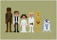 Pixel-People-Star-Wars Cross Stitch Pattern!