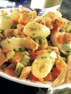 Édesburgonya-saláta banánnal Potato Salad, Food And Drink, Potatoes, Ethnic Recipes, Potato