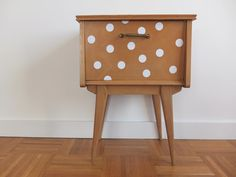 DIY Polka dot nightstand