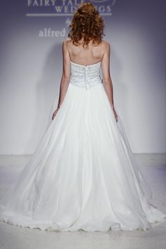 Disney Fairy Tale Weddings by Alfred Angelo Cinderella Diamond Wedding Dress Style #230 (back) NEW! - only available through March 2013!