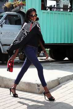 So I thought about Thabo's beautiful Basotho Blanket Cape African Dresses For Women, African Women, African Fashion, African Outfits, African Style, African Wedding Dress, Wedding Dresses, Blanket Jacket, Print Jacket