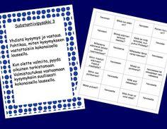 Sanaluokat: substantiiveja ja sijamuotoja