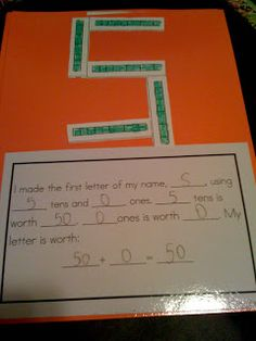 Bishop's Blackboard: A First Grade Blog: Place Value Initials