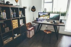 Industrial Style Designer Workspace by Vadim Sherbakov