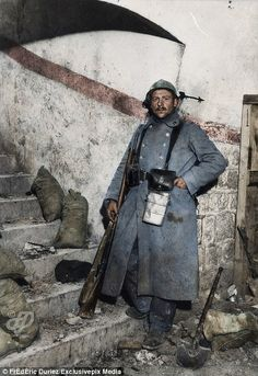 vintage everyday: 29 Incredible Colorized Photos of French Army During World War I Ww1 History, World History, Military History, British History, Ancient History, American History, Native American, Ww1 Photos, Colorized Photos