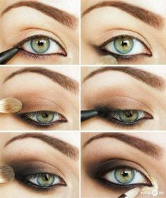 Smoky eye makeup tutorial for green eyes