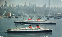 United States Lines ss United States and ss America by adambangor on Flickr.
