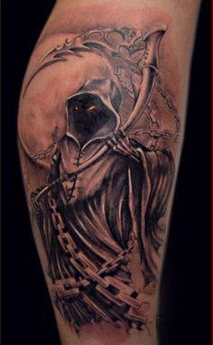 Grim Reaper Tattoo Designs: The Cool Grim Reaper Tattoo Design And Meaning For Men ~ tattooeve.com Tattoo Design Inspiration
