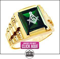 Pequeños Tesoros - Anillos Hombres Alianza De Boda 10 Kt Oro 471/1000 Francmasón Verde Oro Masónico  ✿ Joyas para hombres especiales - lujo ✿ ▬► Ver oferta: https://comprar.io/goto/B0127IXTBO