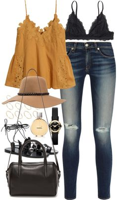 4c2497ceb8e Outfit for a summer college excursion by ferned featuring perfume  fragrancesH M cotton tank top