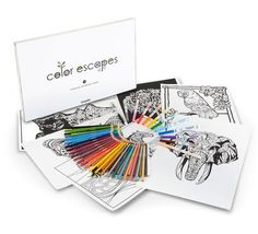 Crayola Color Escapes Adult Coloring Books Pages Pencil Kit