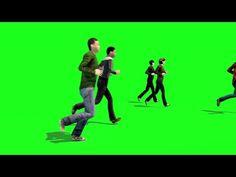 Green Screen Crowd People Run Running - Footage PixelBoom Green Background Video, Green Screen Video Backgrounds, New Background Images, New Backgrounds, Chroma Key, Anime Cherry Blossom, Free Green Screen, Youtube Editing, Youtube Design