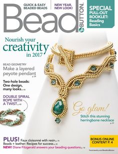 About Bead&Button Magazine - Facet Jewelry Making Jewelry Making Beads, Beaded Jewelry, Beaded Necklace, Beaded Bracelets, Jewellery, Beading Projects, Beading Tutorials, Jewelry Patterns, Beading Patterns