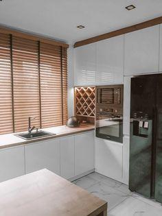 Minimal Kitchen Design, Kitchen Room Design, Home Decor Kitchen, Home Kitchens, Home Design Decor, Küchen Design, Home Interior Design, House Design, New Kitchen Interior