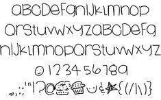 LoveSweets font by Des - FontSpace