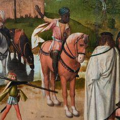 Národní galerie v Praze – Šternberský palác — 15: Geertgen Tot Sint Jans: Tryptych with Adoration of the Magi ~1485 (detail)