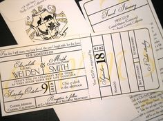 Train Themed Wedding Invitations | vintage train ticket invitations vintage train ticket invitations with ...