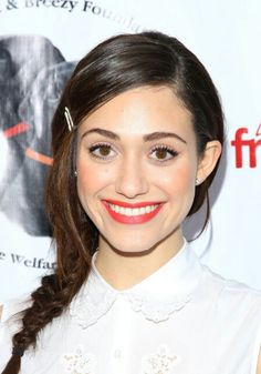 Emmy Rossum, I used Lime Crime Velvetines Lipstick in Suedeberry, Kevyn Aucoin Cream Blush in Tansoleil and Armani Eyes to Kill Mascara