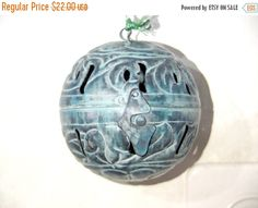 SALE Ball candle holderhangable candle ball by VintageAnd4All