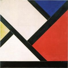 Date unknown - Doesburg, Theo van - Counter composition XIV Hard Edge Painting, Action Painting, Painting Collage, Paintings, Piet Mondrian, Jean Arp, Bauhaus, Hans Richter, Theo Van Doesburg