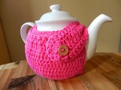 Modern TEA COZY in crochet cotton custom by bouquetofcrochet, $12.00