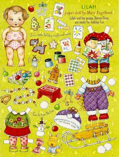 Mary Engelbreit- Lilah-https://flic.kr/p/8uKT8v | PetitPoulailler Mary Engelbreit Paper Doll, Baby Sister Lilah | Lilah and Bonny Rose and Christmas