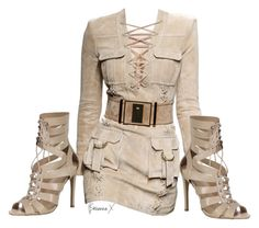 """Untitled #2716"" by breannamules ❤ liked on Polyvore featuring Balmain"