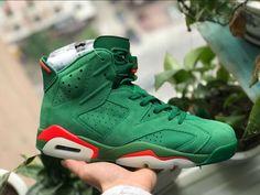 7050ce60240 Air Jordan 6 Gatorade Suede Green Be Like Mike AJ5986-335 Jordans Sneakers,  Air