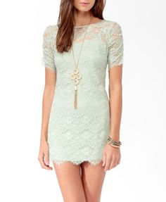 $27.80, forever21.com, eyelash lace zipper back dress