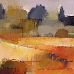 landscape autumn warm colors Bay Farm 8 by Irma Cerese Check out the website for Landscape Drawings, Abstract Landscape Painting, Watercolor Landscape, Landscape Art, Landscape Paintings, Watercolor Art, Abstract Art, Abstract Portrait, Nature Paintings