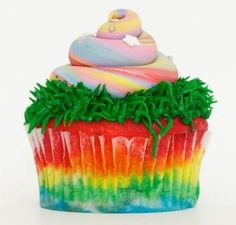 Unicorn poop cupcake.. Saffy wants these cupcakes and a unicorn cake. She really wants to know if this is really what unicorns poop out. I said the real stuff is usually more sparkly.