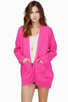 Pink Carissa Knit Cardigan at $24 (was $62)