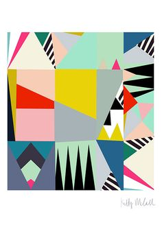 <p>One of Kitty's great new signed open edition mini prints to compliment her Abstractica series.Sold unframed.</p>