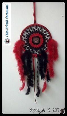 Dreamcatchers - Atrapasueños - la guru del crochet - Casa Cristal Saraswati - Diosa Kali y Jagarna corazones