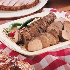 Grilled Pork Tenderloin Recipe - good seasoning!! I need to remember to wrap in foil before grilling