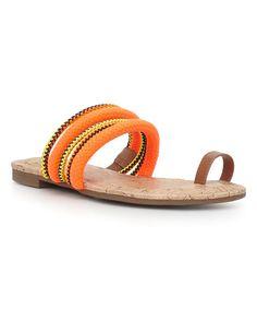 Saddle & Orange Helen Sandal