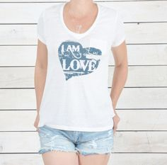 I Am Love with Heart - Vintage Inspired Graphic Tee – SuperLoveTees   Graphic Tees Inspired By Love