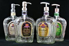 Kitchen Soap Dispenser, Glass Dispenser, Soap Dispensers, Liquor Dispenser, Alcohol Bottles, Liquor Bottles, Glass Bottles, Alcohol Bottle Crafts, Glitter Bottles