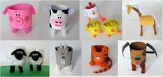 awww gotta try this with the stinker :) Bible Crafts For Kids, Diy For Kids, Activities For Kids, Toilet Paper Roll Crafts, Paper Crafts, First Grade Crafts, Farm Theme, Camping Crafts, Preschool Art