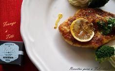 Receitas de Mariana Teixeira, utilizando produtos Tété: Bife de frango à Tété (www.tete.pt/sabores).